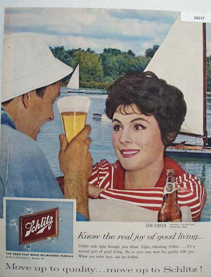 Jos. Schlitz Brewing Co. 1959 Ad