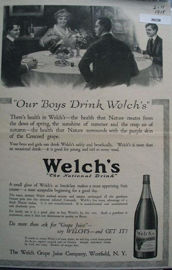 Welchs Grape Juice 1915 Ad