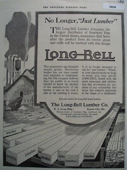 Long Bell Lumber Co. 1919 Ad