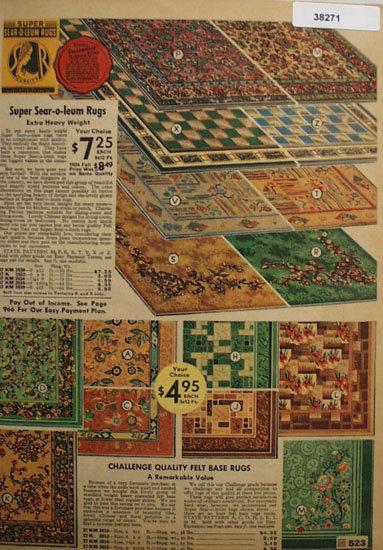 Sears Sear O Leum Rugs 1935 Ad