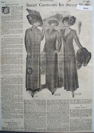 Needlecraft Dress Patterns 1911 Article