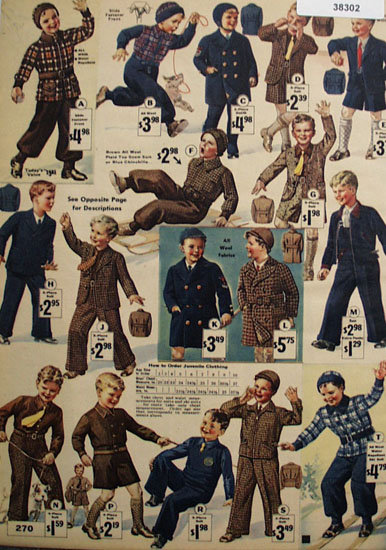 Sears Boys Clothes 1935 Ad