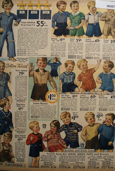 Sears Young Children Clothes 1936 Ad