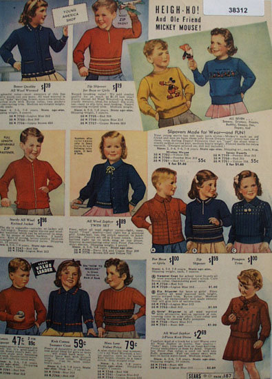 Sears Young America Shop Sweaters 1938 Ad