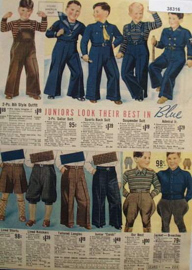 Sears Boys Clothes 1938 Ad
