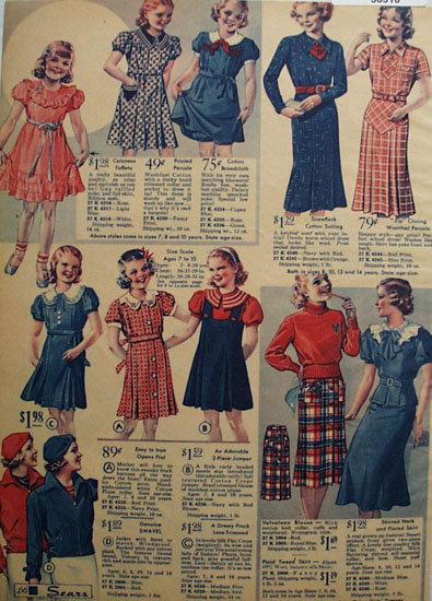 Sears Girls Dresses 1935 Ad