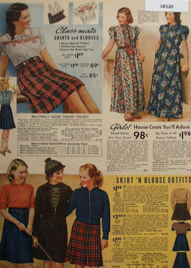 Sears Girls Clothes 1938 Ad