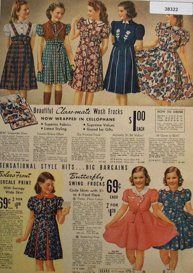 Sears Girls Wash Frocks 1938 Ad