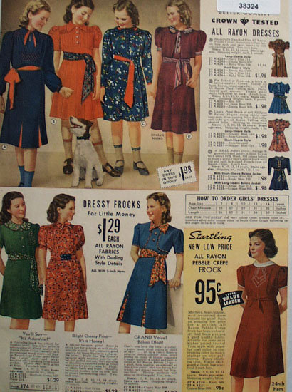 Sears Young America Shop Dresses 1938 Ad