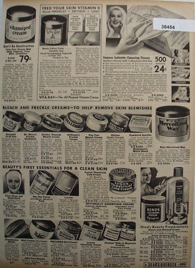 Sears Skin Cream 1936 Ad