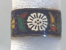 Sterling Silver Inlay Ring Band