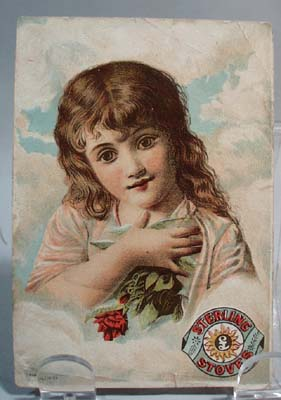 Sterling stoves Victorian Trade card