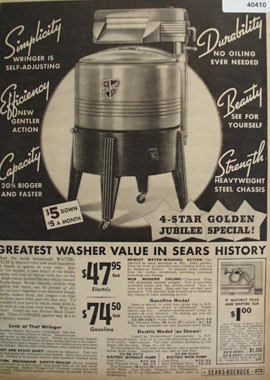 Sears Water Witch Wringer Washer 1936 Ad