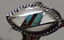 Mother of Pearl, Turquoise, Coral Ring