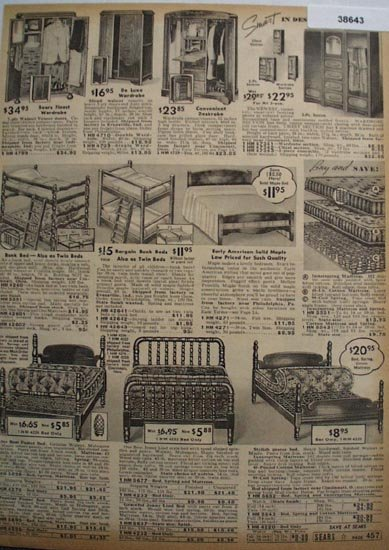 Sears Wardrobes And Beds 1938 Ad