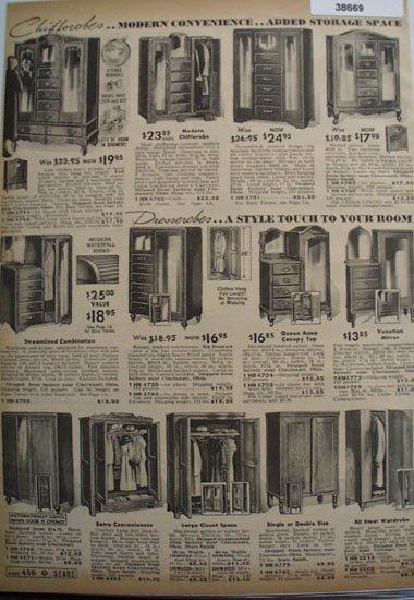 Sears Wardrobes 1936 Ad