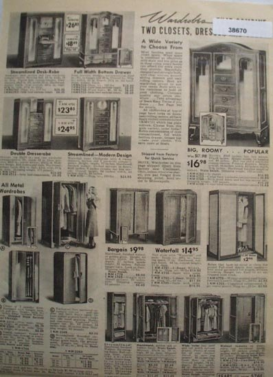 Sears Wardrobe Combination 1938 Ad