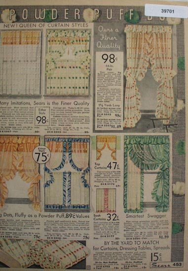 Sears Powder Puff Dot Curtains 1935 Ad