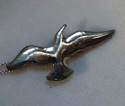 Unmarked Silver Bird Pendant