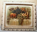 Victorian Print In Wooden Spoon Carved Frame