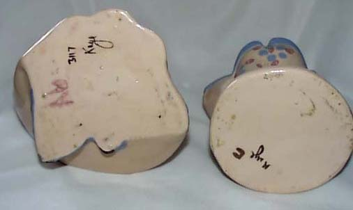 Kaye Finch Early Pair large Figurines