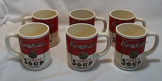 b0a0137fbcd Campbells Tomato Soup Mugs 1950 Era