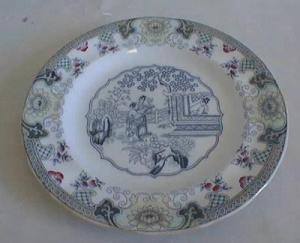 Maastricht Canton Plate Oriental Blue/ Lustre