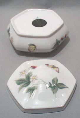 Bone China Botanical Dresser Jar