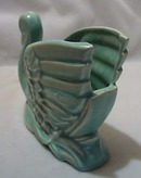 Graceful Pottery Swan Matt Blue/green Finish