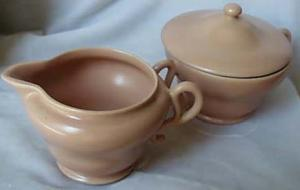 Franciscian El Patio Pink Cream & Sugar bowl, mint condition