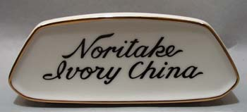 Noritake Ivory China Display Sign