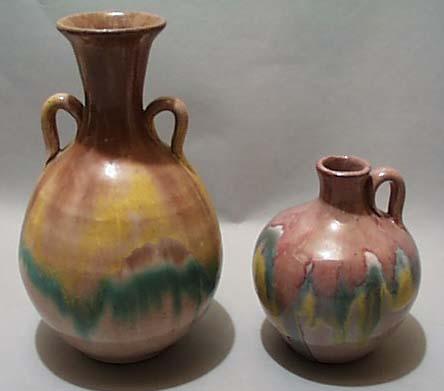 Virginia Pottery Double Handled Vase & Jug