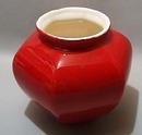 Deep Red Royal Haegar Vase #145