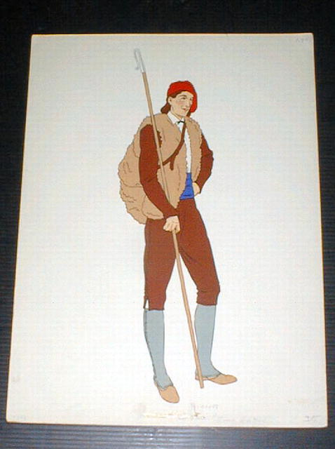 Pyrenees Print Costume of a Man