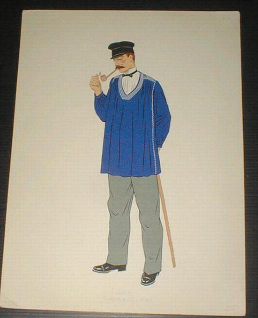 Lozere Costume of a Man Color Print