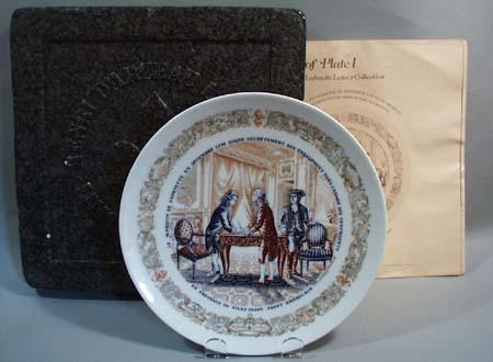 Darceau Limoges #440 Plate 1 Lafayette Legacy