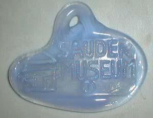Sauder Museum Dealer sign, blue