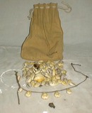 WW 2 Puca beads in leather pouch