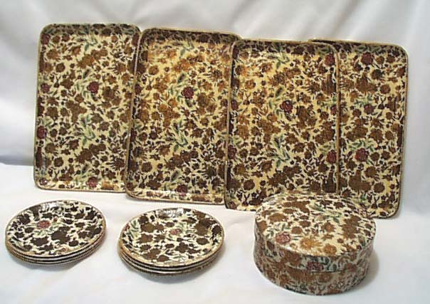 Paper Mache Box , Coasters & Tip Trays Set