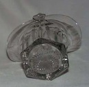 Glass basket with applied handle, Tiffin?