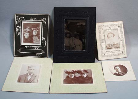 5 Little One Cent Photo's & 1 Tintype