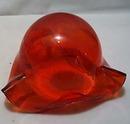 Flower Bowl Bullicante Red Glass Hand Blown