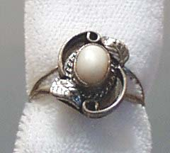 Mother of Pearl & Sterling Ring