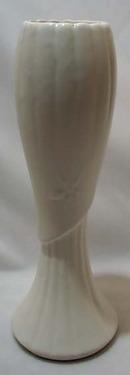Brush Drape Vase Milk White Glaze