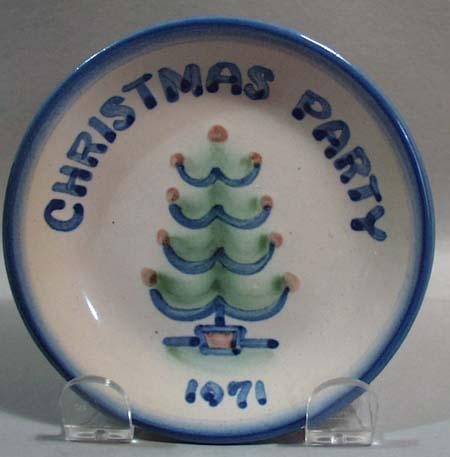 M.A. Hadley Christmas Party 1971 Coaster