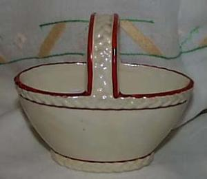 Czech Lusterware basket pearlized