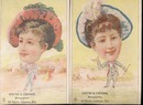 Womens heads/ mens bodies drugstore cards1880