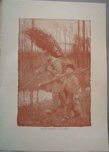 1888 print Faggot Gatherers by G. Clausen