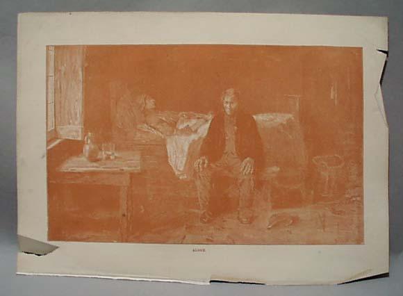 Sepia Tone Death Scene 1888 Entitled Alone
