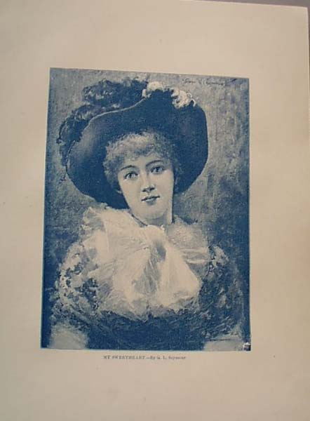 1888 Litho My Sweetheart by Seymour